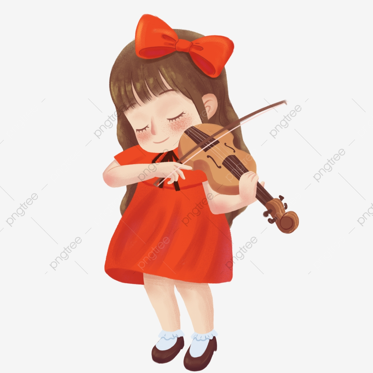 pngtree-cartoon-cute-girl-playing-violin-element-instrumentbowreddesign-element-png-image_4037099
